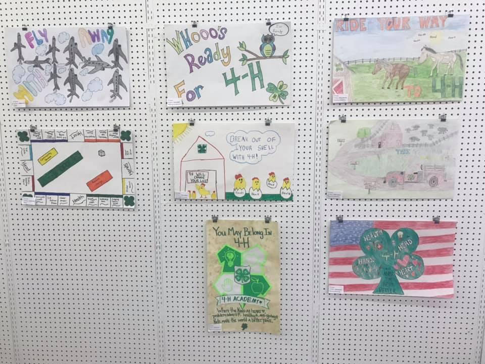 Winning posters from 4th, 5th, and 6th grade in Rockcastle County