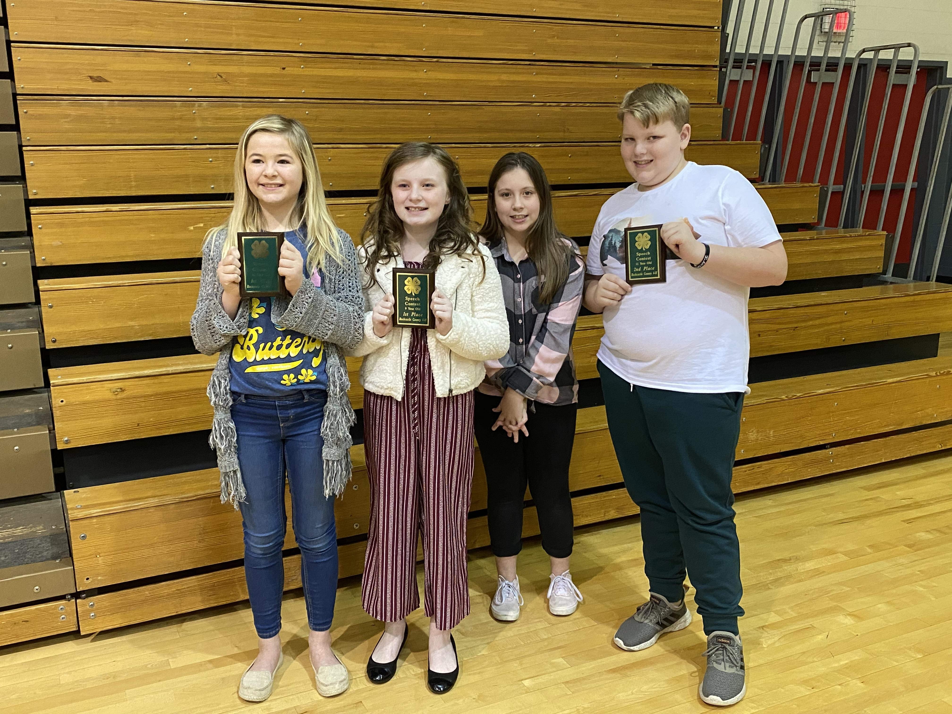 Pictured are participants and winners of the 2019-2020 4-H Speech Contest