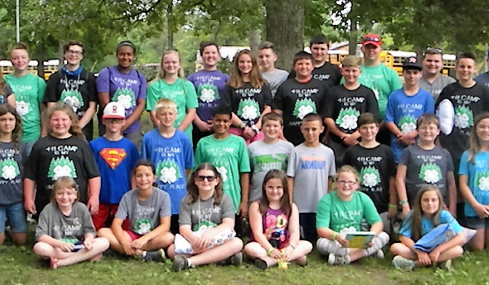 2017 4-H Camp attendees